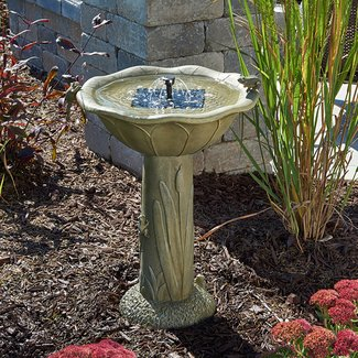 Solar Bird Bath Fountain Visual Hunt