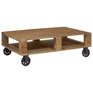 """Stone & Beam Industrial Wood Coffee Table, 51""""W, Natural"""