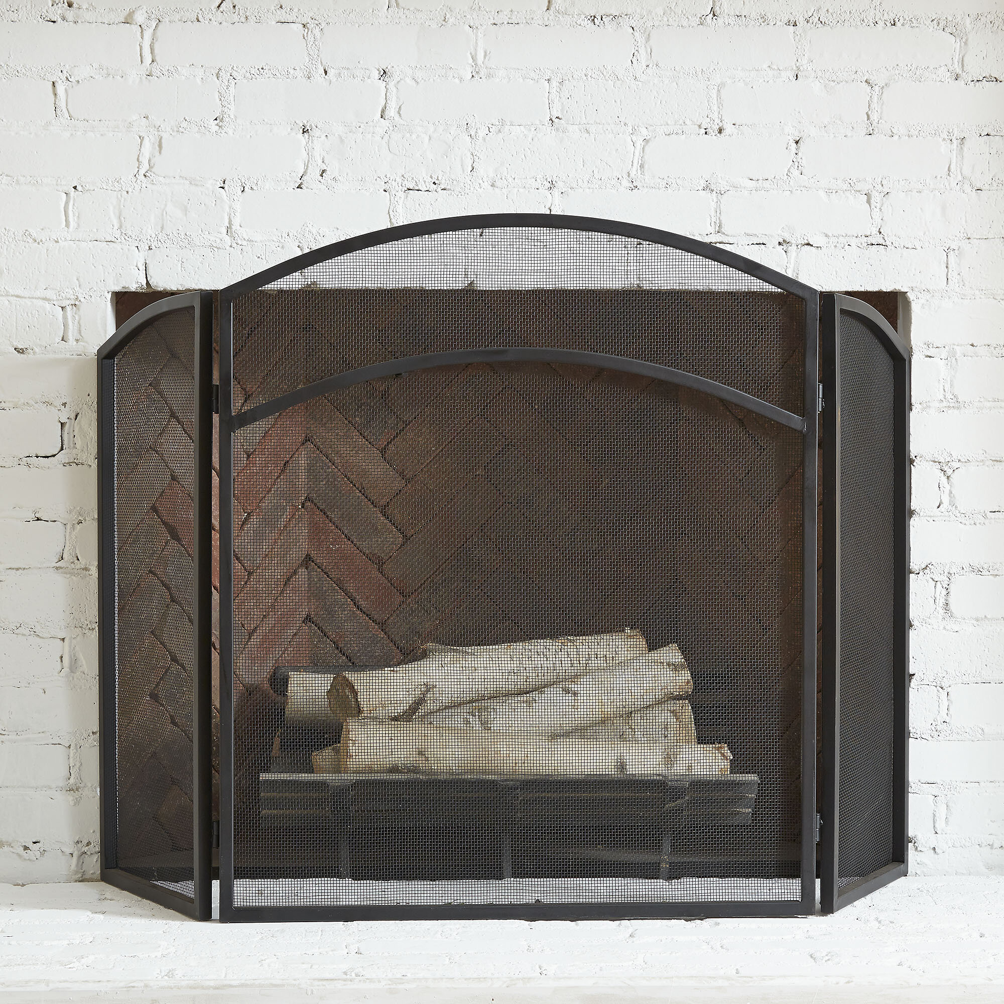 The Three Panel Fire Screen