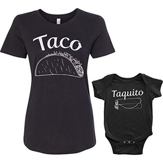 Threadrock Taco & Taquito Infant Bodysuit & Women's T-Shirt Matching Set