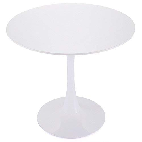 Tobbi 32 Inch Round Tulip Dining Table Coffee Table in White Elegant Furniture