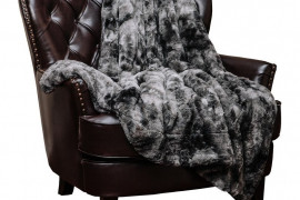 Charcoal Gray Throw Blanket