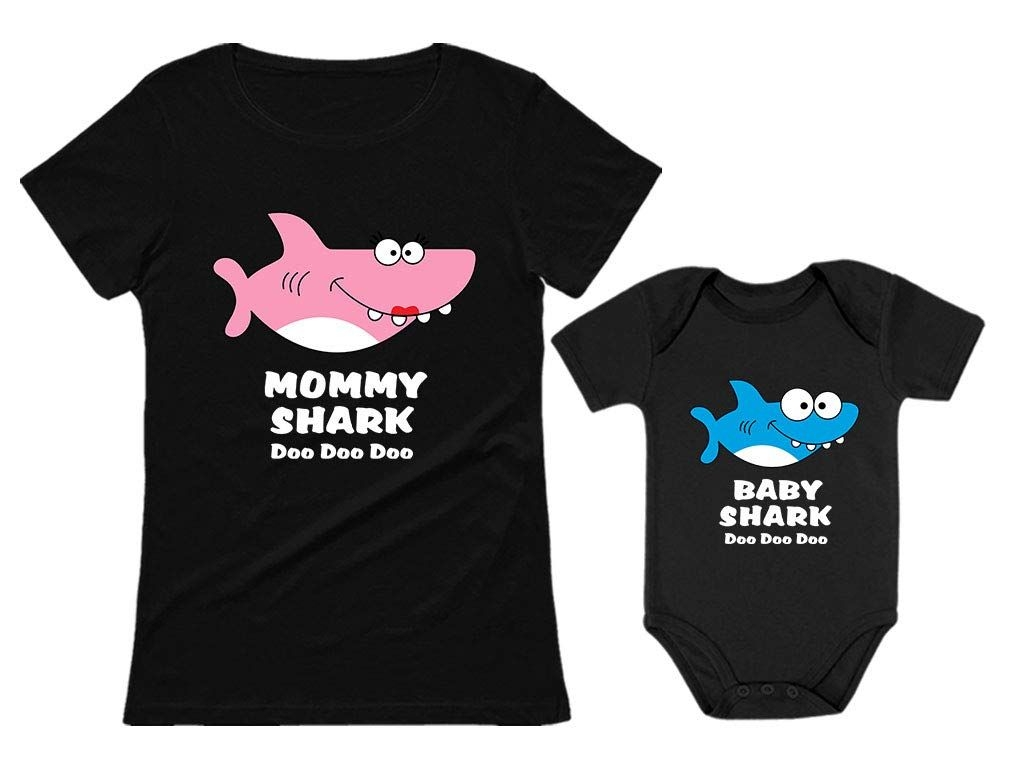 Funny Chicken and Little Chick Matching Dad Shirt and Baby Bodysuit