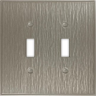 Twill Decorative Metal Double Toggle Light Switch Cover