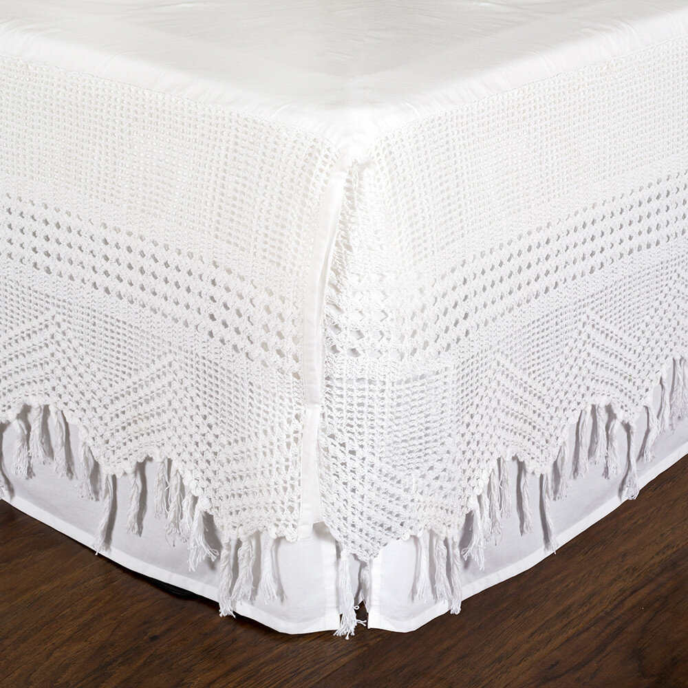 Vintage Crochet Bed Skirt
