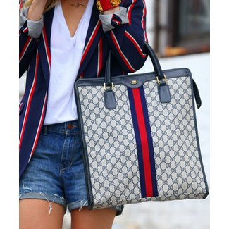 Vintage Gucci Monogram Tote Bag | ArtListings