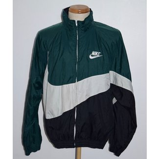 Vintage Nike Big Swoosh Green Black White Windbreaker . 988e79367