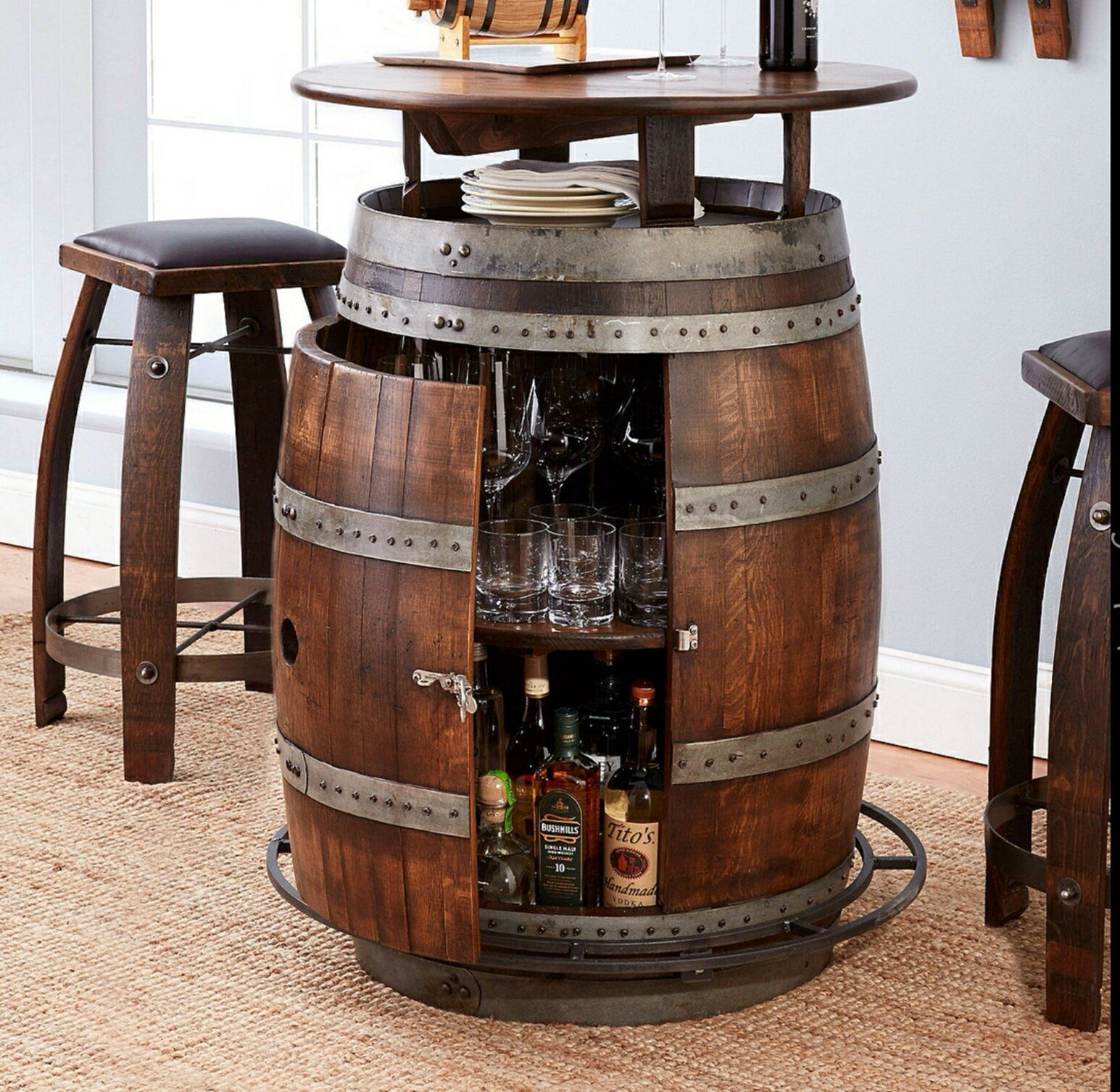 Cool Wine Barrel Table Visual Hunt Download Free Architecture Designs Scobabritishbridgeorg