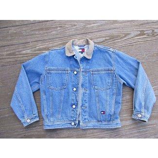930da87b Vintage Tommy Hilfiger Denim Jean Jacket Mens M 90s .