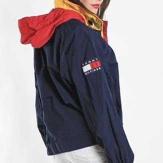 7f78f5406 Vintage Tommy HIlfiger Windbreaker Jacket from Frankie .