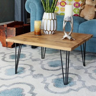 Virgie Square Old Elm Coffee Table