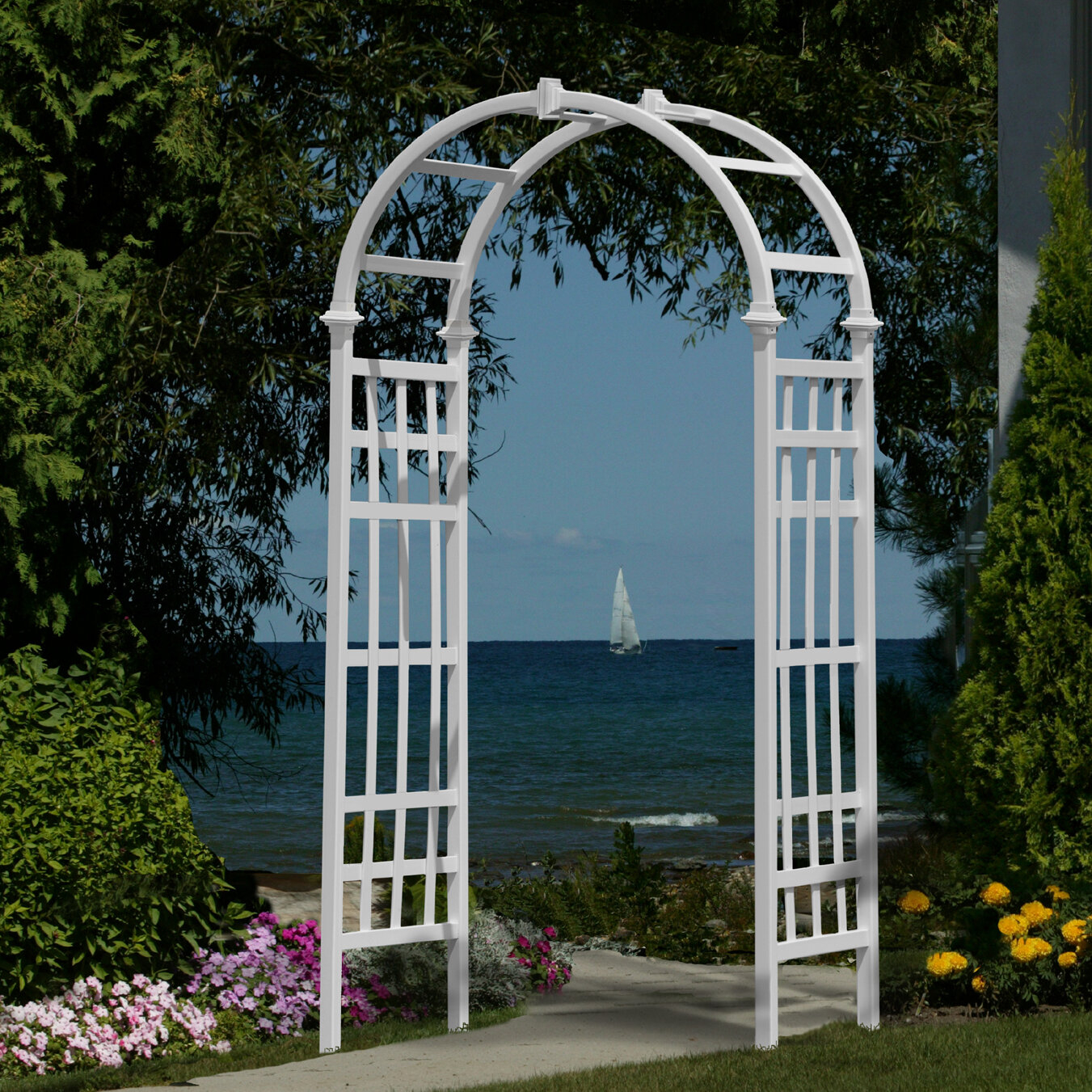 White Vinyl Wedding Arbor