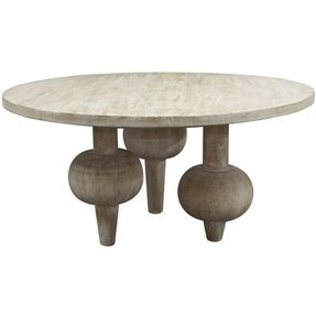 50 Whitewashed Round Coffee Table You
