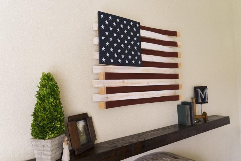 Wine Barrel American Flag Wall Décor