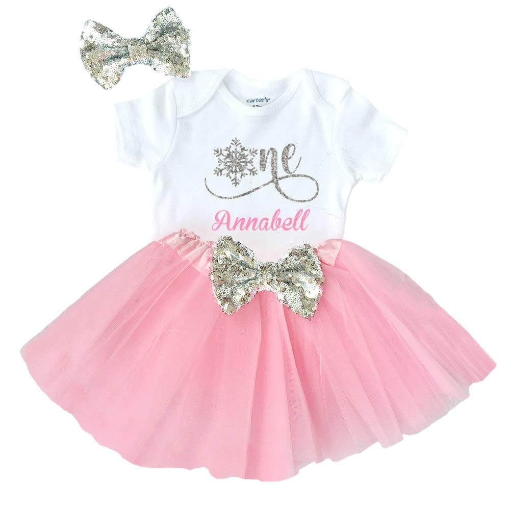 1st Birthday Themed Baby Grow//Suit PERSONALISED NAMED ONE YEAR OLD PRINCESS