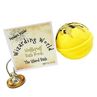 Wizard World Yellow House Bath Bomb Gift Box with Matching Pendant - Made in USA