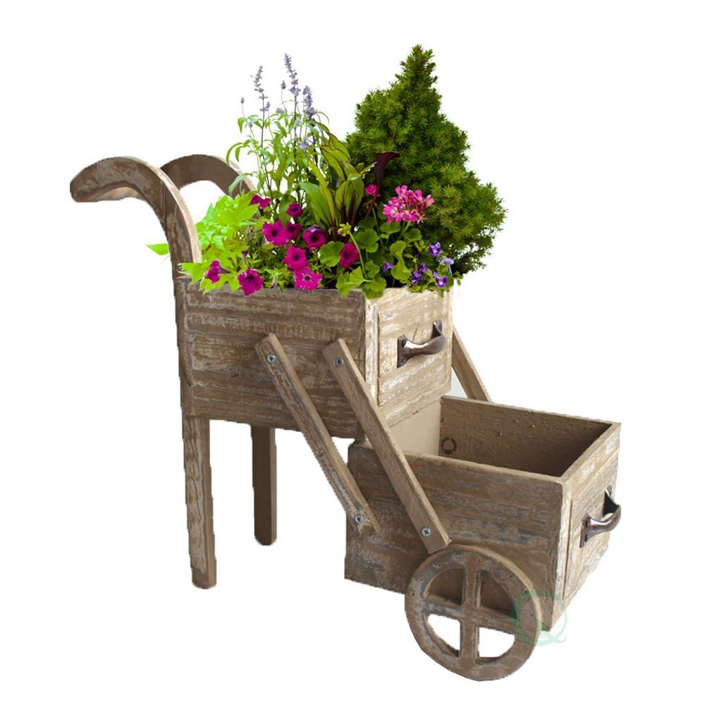 Decorative Wheelbarrow Planter Visual Hunt