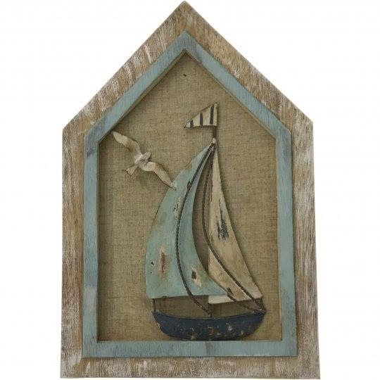 Wooden Sailboat Wall Decoration