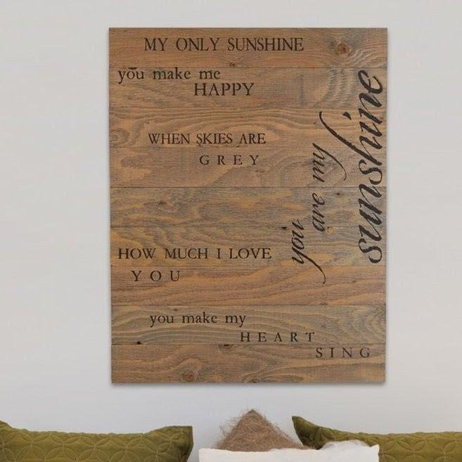 You Are My Sunshine Wooden Pallet Sign Wall Décor