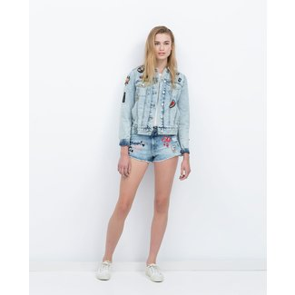 fe6125d1 Zara Denim Jacket With Patches Denim Jacket With Patches .