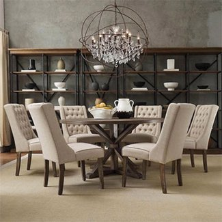 60 Inch Round Dining Table Set | Shelby Knox