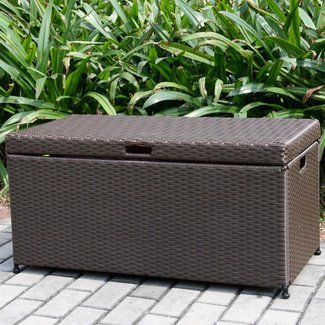 70 Gallon Wicker Deck Box