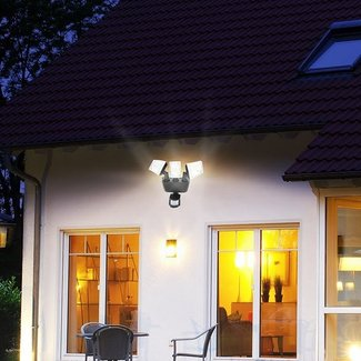 85-Watt LED Solar Power Dusk to Dawn Outdoor Security Flood Light with Motion Sensor