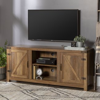 """Adalberto TV Stand for TVs up to 65"""" with optional Fireplace"""