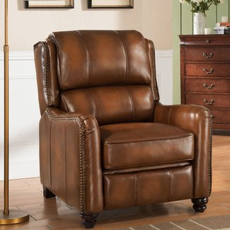 Aida Leather Manual Recliner
