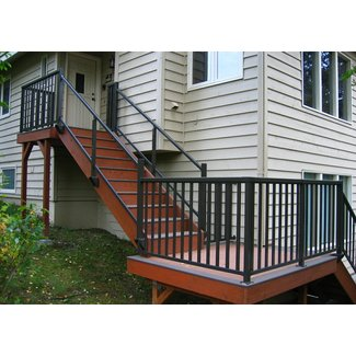 Aluminum Top and Bottom Stair Railing