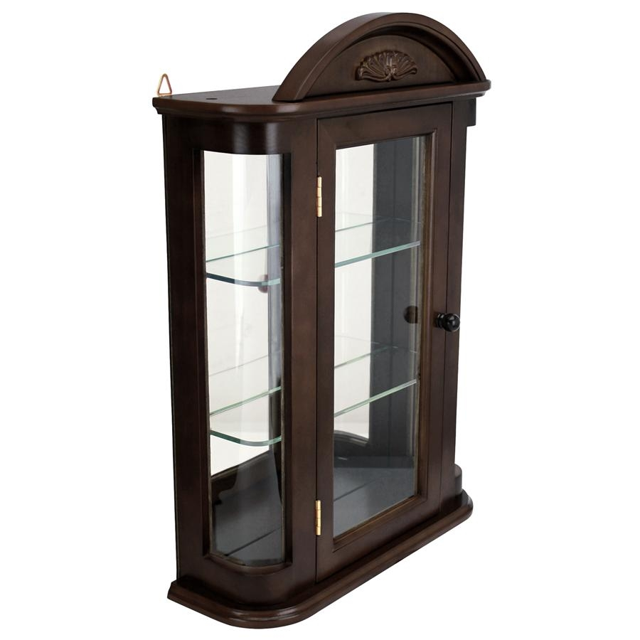 Amazon.com: Small Wall Mounted Curio Cabinet / Wall .