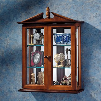 Amesbury Manor Wall-Mounted Curio Cabinet