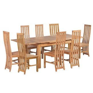 Arreola 9 Piece Extendable Solid Wood Dining Set