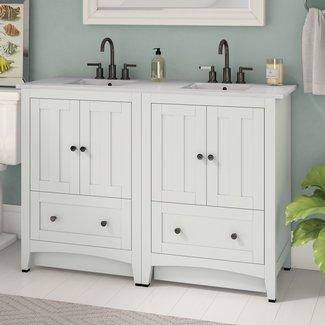 "Artic 48"" Double Bathroom Vanity Set"