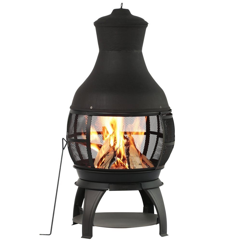 Black Landmann Redford Outdoor Fire Pit Outdoor Fireplaces