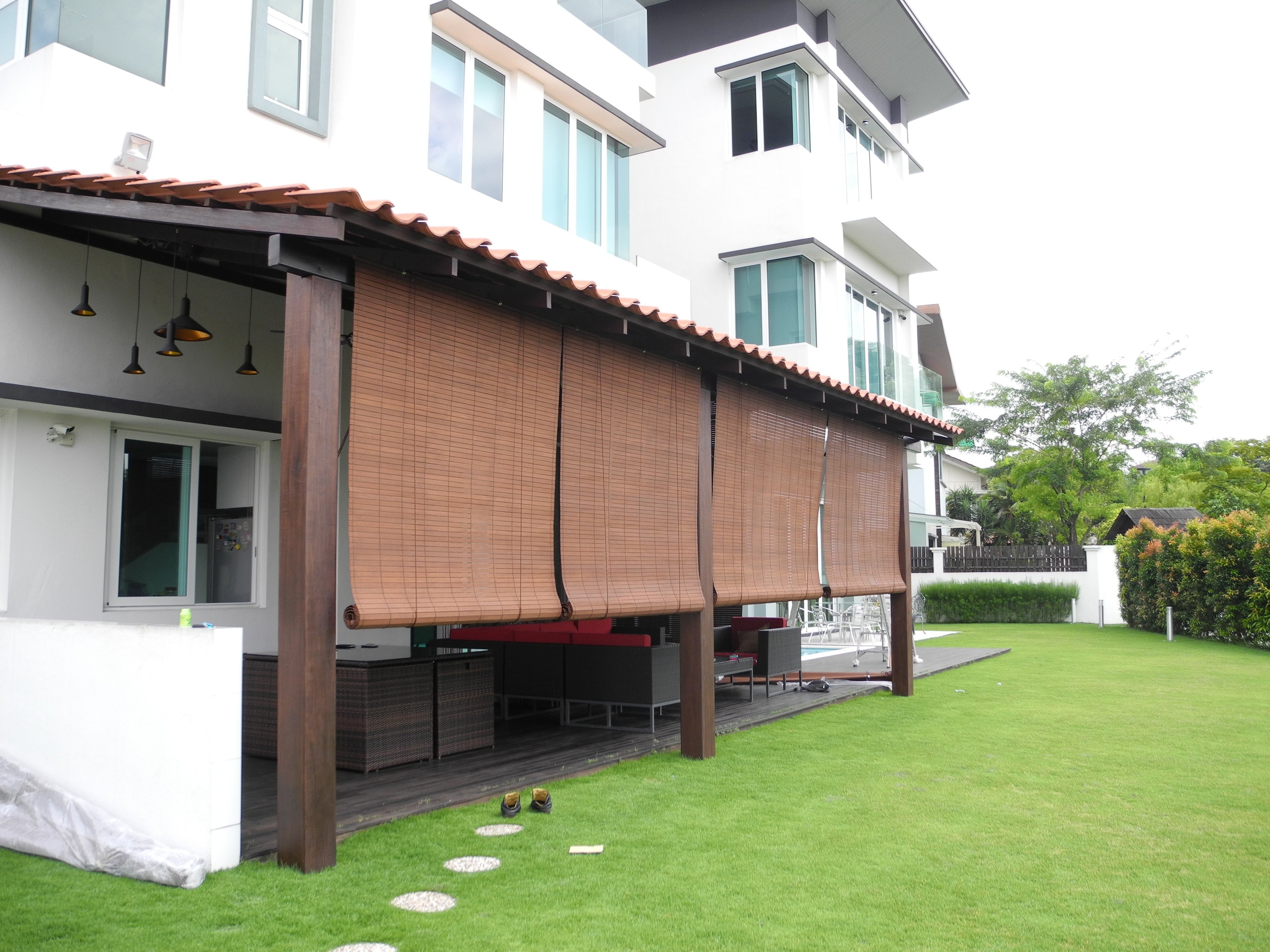 Outdoor Roll Up Bamboo Blinds You Ll Love In 2021 Visualhunt