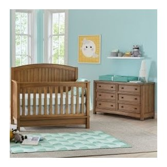Bristol 4-in-1 Convertible 2 Piece Crib Set