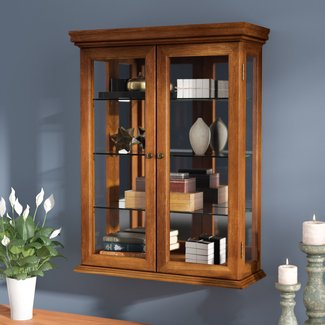 Cassette Wall-Mounted Curio Cabinet