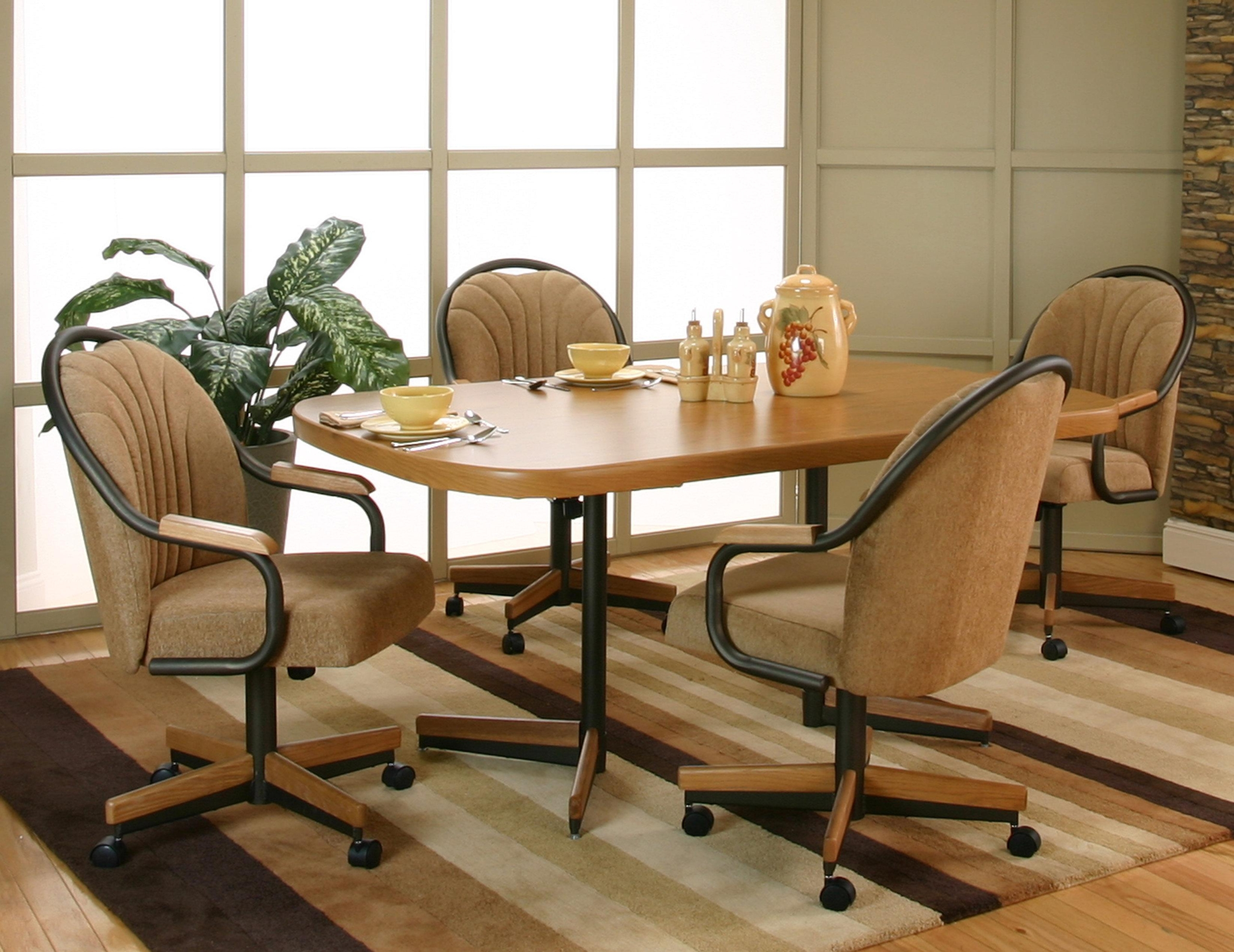 Set of 9 Kitchen Chairs with Casters You'll Love in 9   VisualHunt