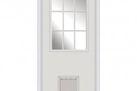 Exterior Door with Built In Pet Door