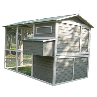 Coops and Feathers™ Extreme Walk-In Hen Chicken Coop with Chicken Run