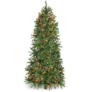 Douglas 6.5' Green Fir Tree Artificial Christmas Tree with 400 Multi-Colored Lights