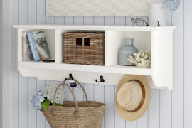 Entryway Shelf With Hooks