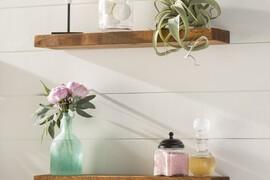 Wall Mounted Kitchen Shelves