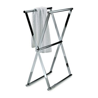 Folding Double Free Standing Towel Rack