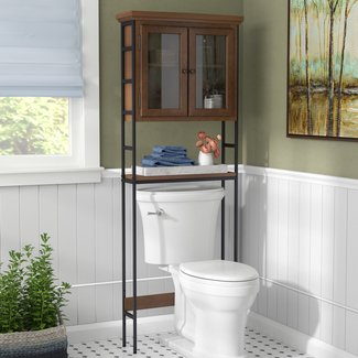 "Foxborough 3-Tier 25.5"" W x 67.5"" H Over the Toilet Storage"
