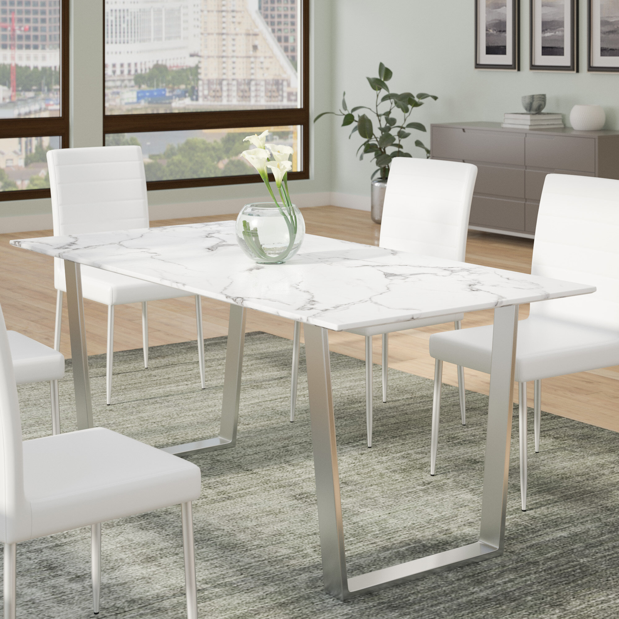 Faux Marble Dining Table You Ll Love In 2021 Visualhunt