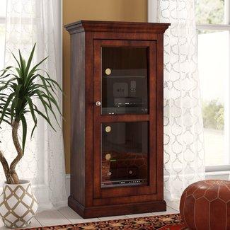 Glass Panel Door Audio Cabinet
