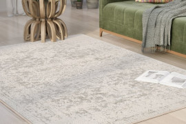 Grey and Beige Rug