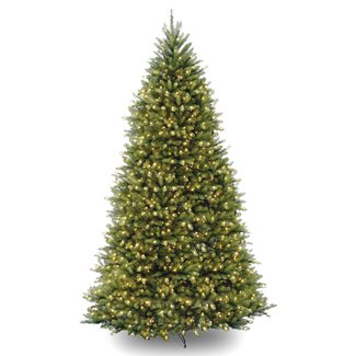 Hinged 10' Green Fir Artificial Christmas Tree with 1200 Clear Lights